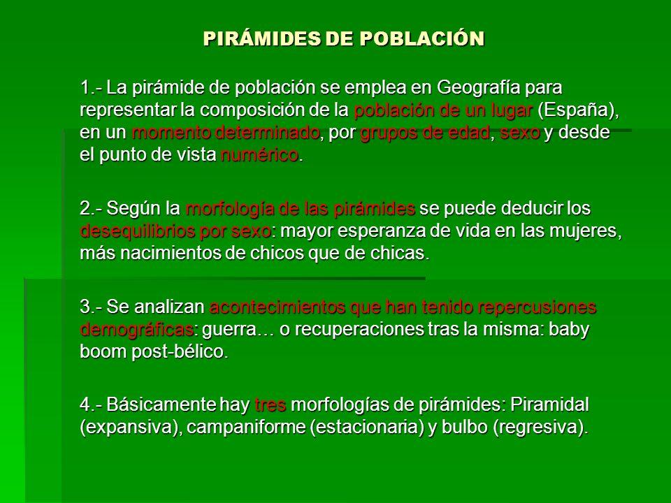PIRÁMIDES DE POBLACIÓN