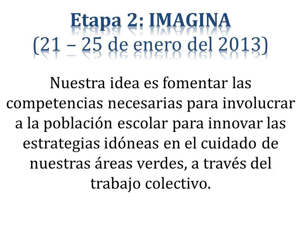 Etapa 2: IMAGINA (21 – 25 de enero del 2013)