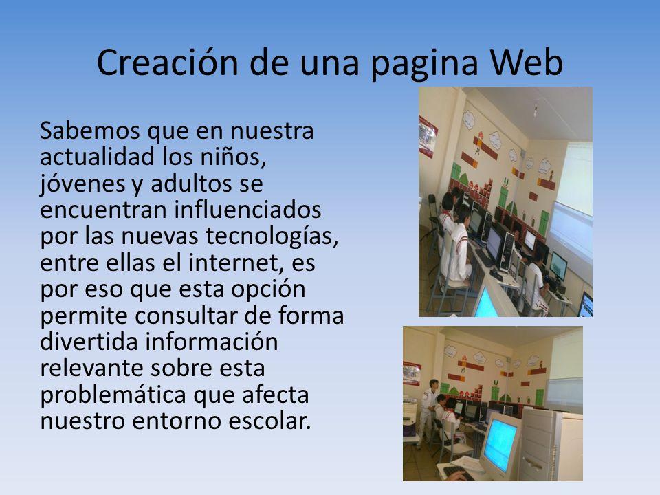 Creación de una pagina Web
