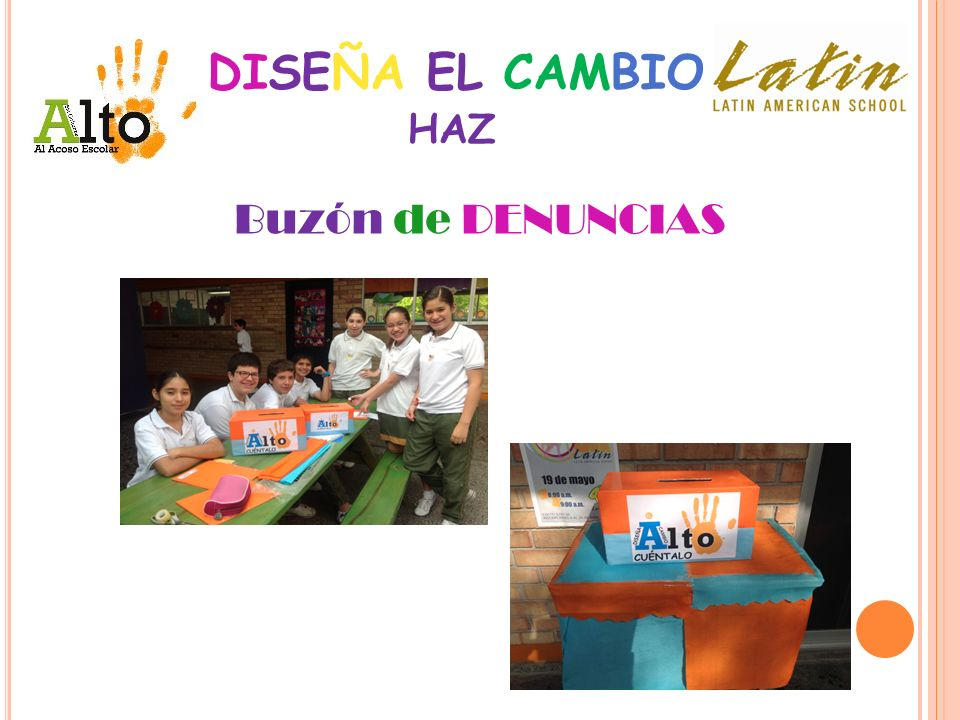 DISEÑA EL CAMBIO HAZ Buzón de DENUNCIAS