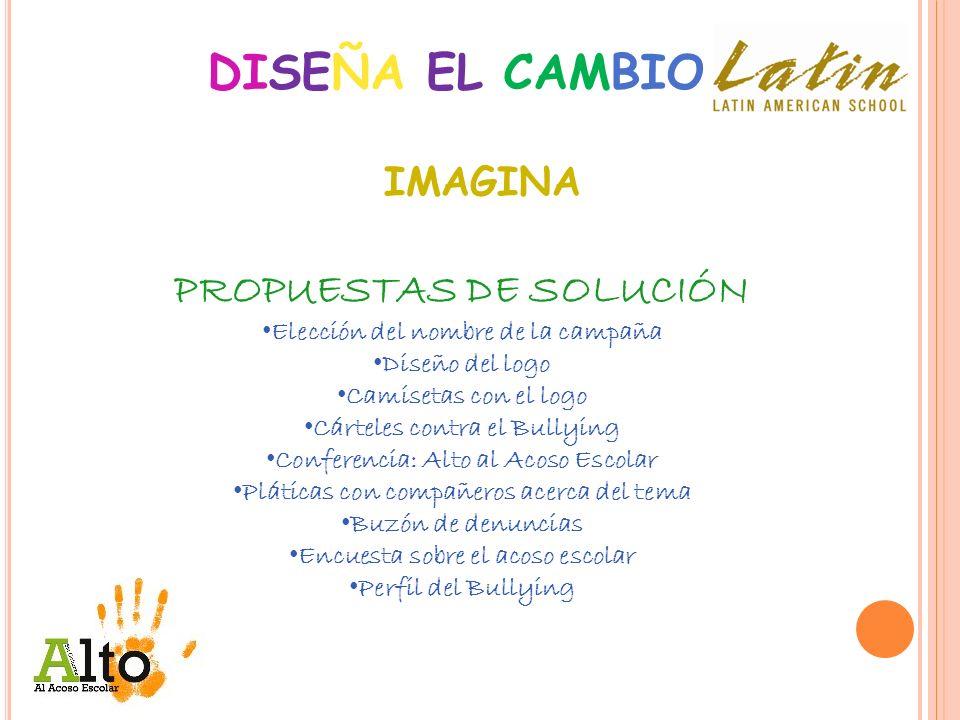DISEÑA EL CAMBIO PROPUESTAS DE SOLUCIÓN IMAGINA