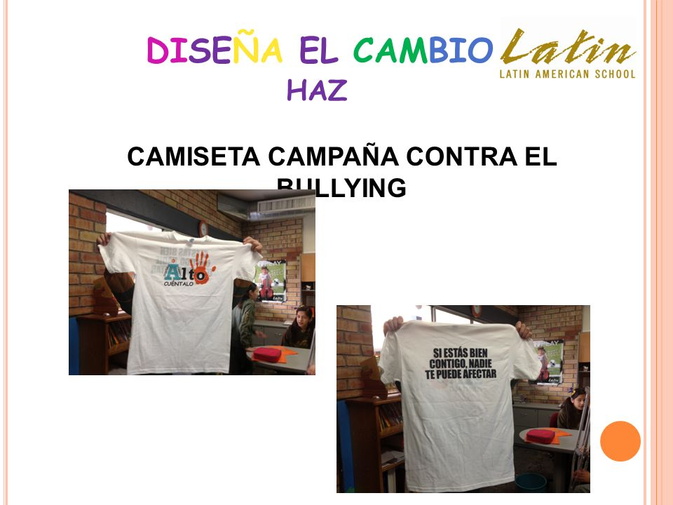 CAMISETA CAMPAÑA CONTRA EL BULLYING