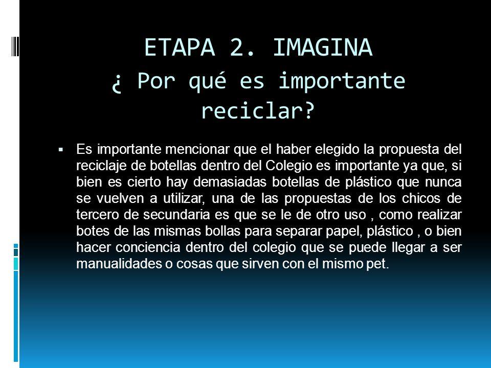 ETAPA 2. IMAGINA ¿ Por qué es importante reciclar