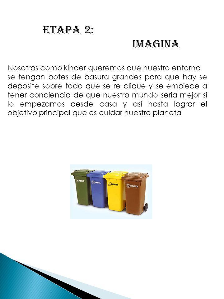 ETAPA 2: IMAGINA Nosotros como kínder queremos que nuestro entorno