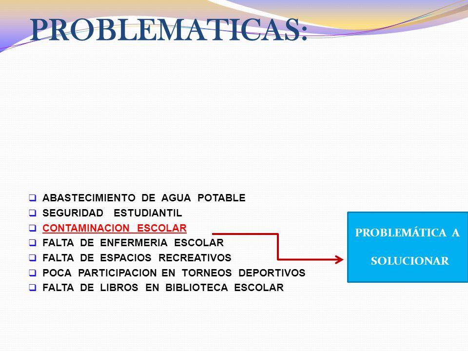 PROBLEMATICAS: PROBLEMÁTICA A SOLUCIONAR