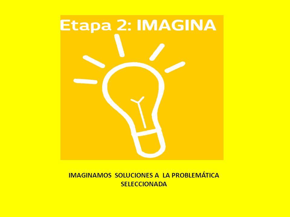 IMAGINAMOS SOLUCIONES A LA PROBLEMÁTICA SELECCIONADA