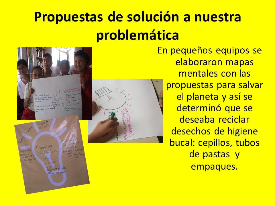 Propuestas de solución a nuestra problemática