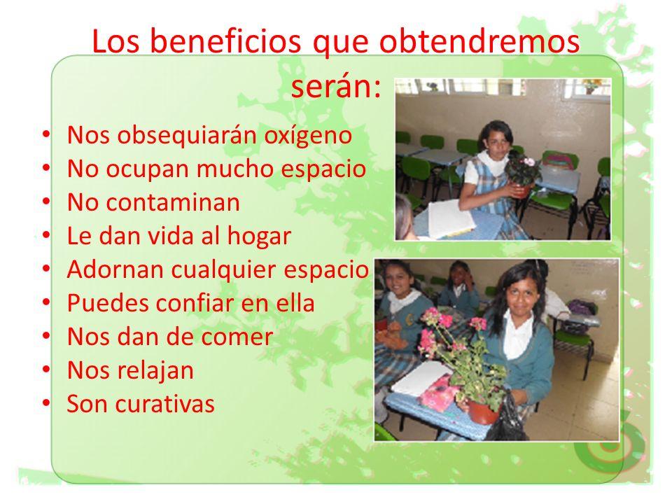 Los beneficios que obtendremos serán: