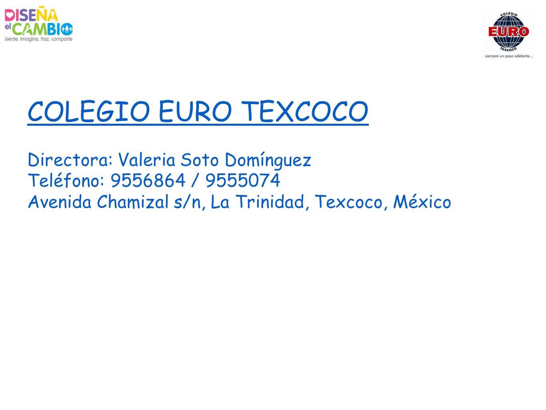 COLEGIO EURO TEXCOCO Directora: Valeria Soto Domínguez