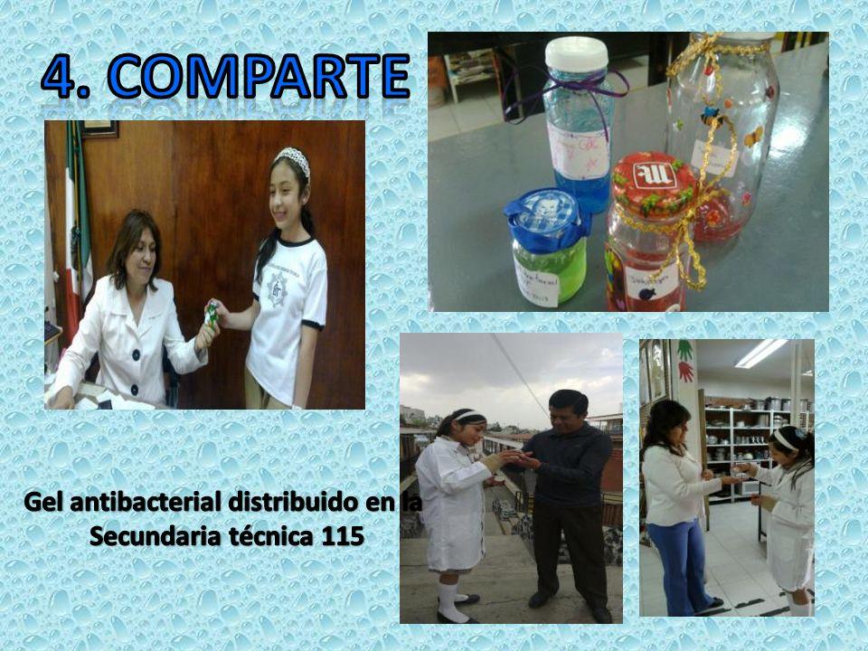 Gel antibacterial distribuido en la