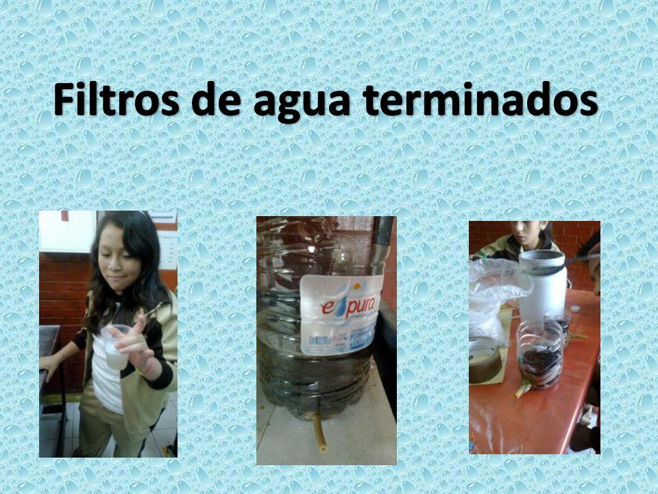 Filtros de agua terminados