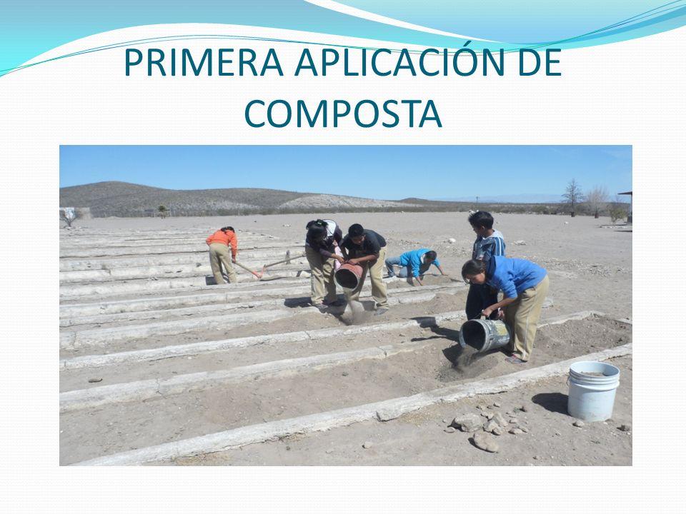 PRIMERA APLICACIÓN DE COMPOSTA