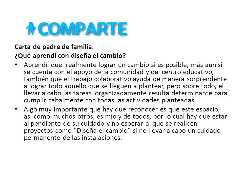 Carta de padre de familia: