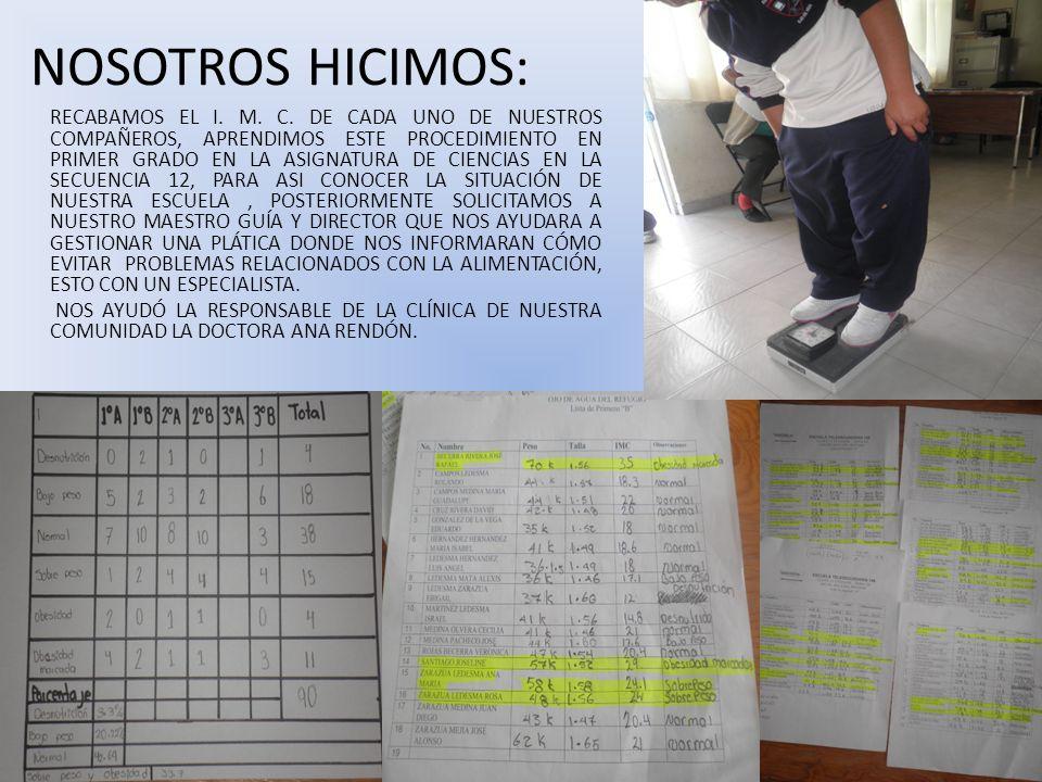 NOSOTROS HICIMOS: