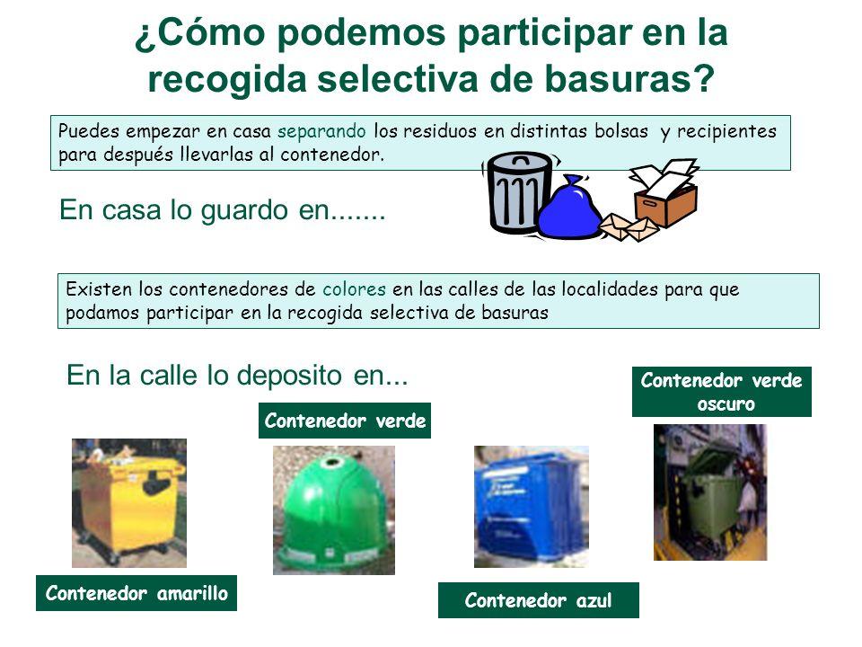 ¿Cómo podemos participar en la recogida selectiva de basuras