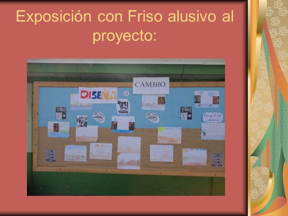 Exposición con Friso alusivo al proyecto: