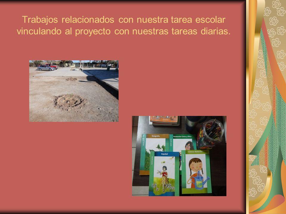 Trabajos relacionados con nuestra tarea escolar vinculando al proyecto con nuestras tareas diarias.