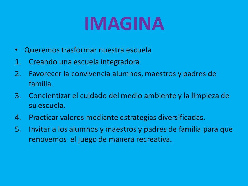IMAGINA Queremos trasformar nuestra escuela