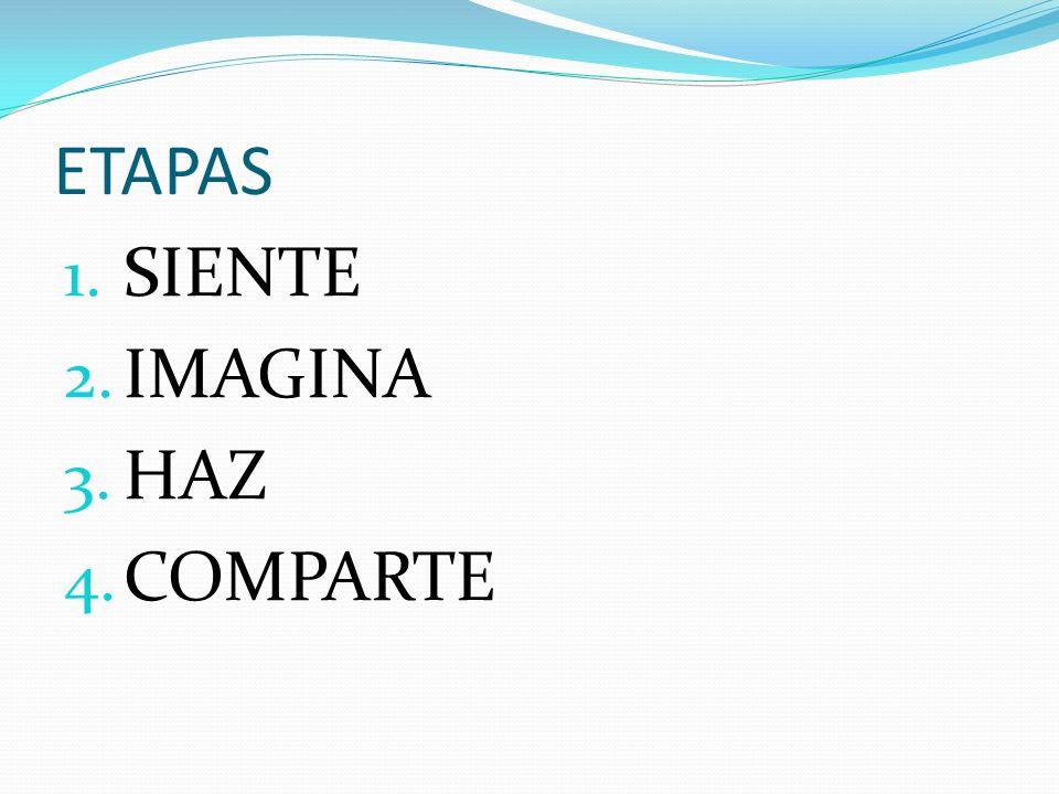 ETAPAS SIENTE IMAGINA HAZ COMPARTE