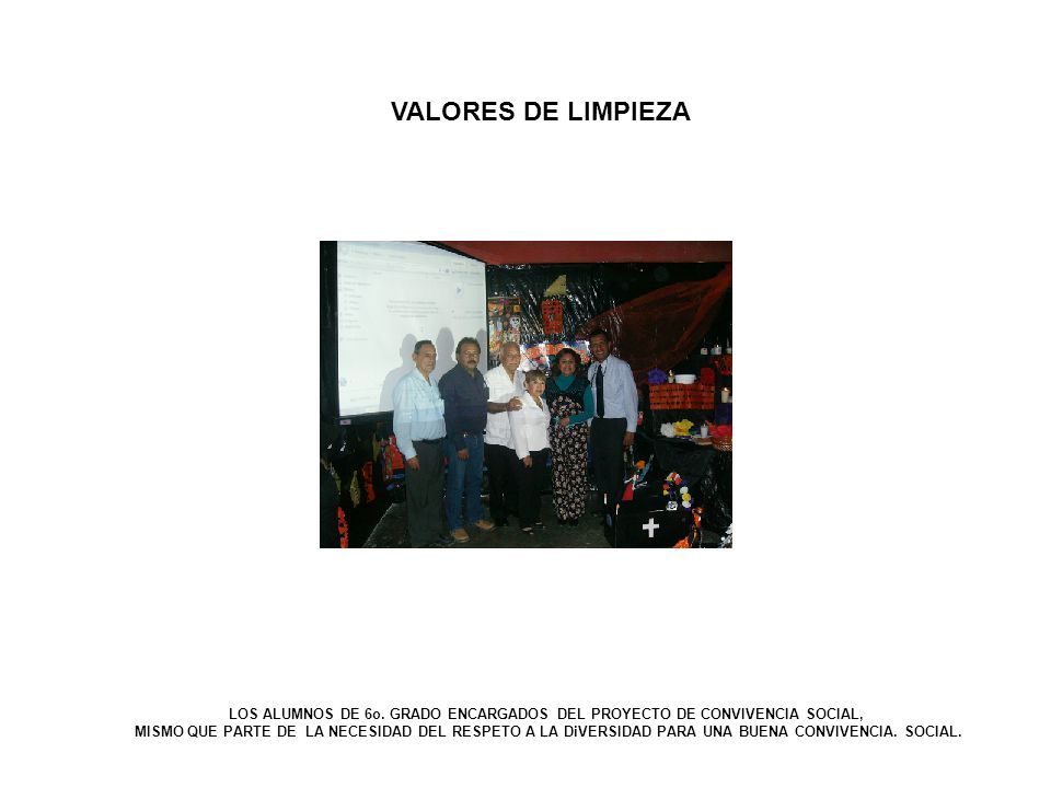 VALORES DE LIMPIEZA