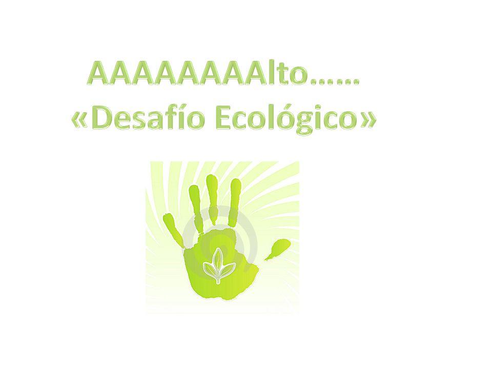 AAAAAAAAlto…… «Desafío Ecológico»