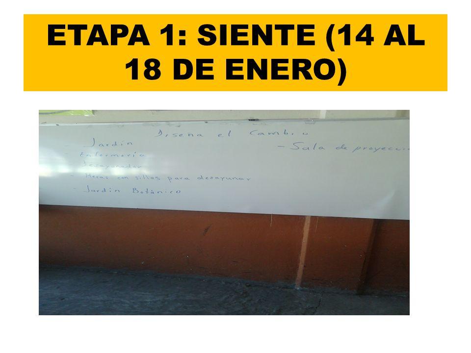 ETAPA 1: SIENTE (14 AL 18 DE ENERO)