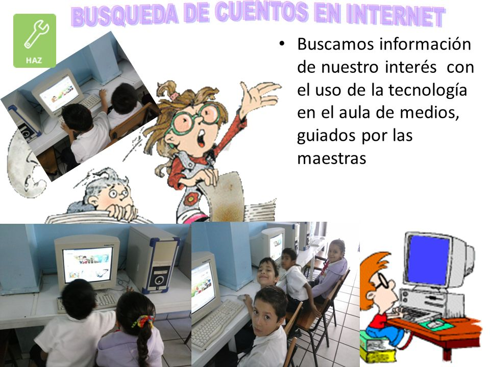 BUSQUEDA DE CUENTOS EN INTERNET