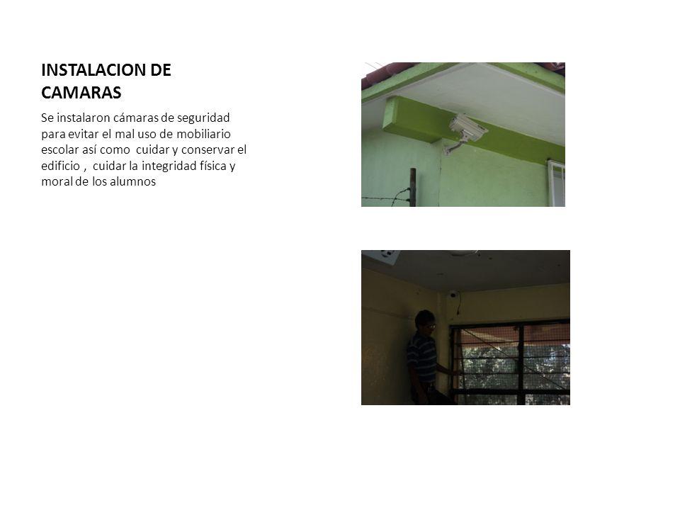 INSTALACION DE CAMARAS