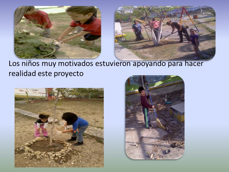 Los niños muy motivados estuvieron apoyando para hacer realidad este proyecto