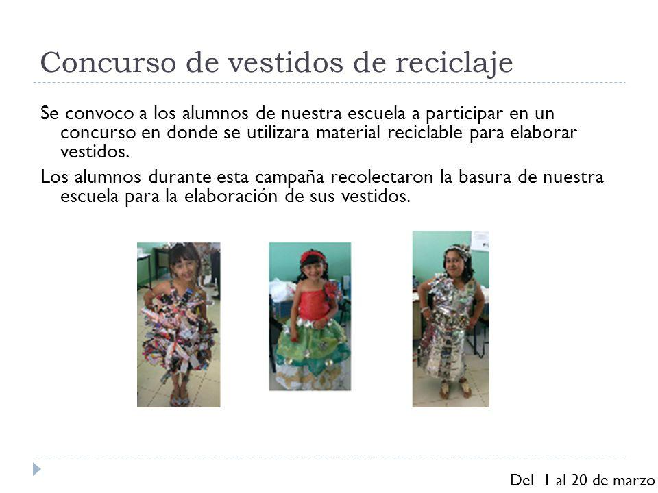 Concurso de vestidos de reciclaje