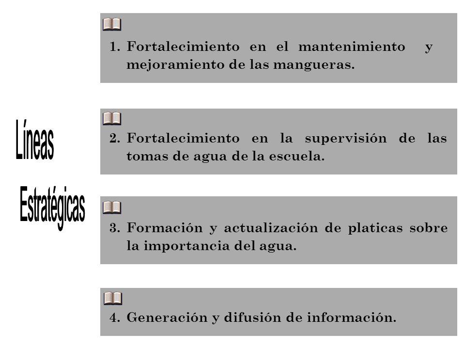 Fortalecimiento en el mantenimiento y mejoramiento de las mangueras.