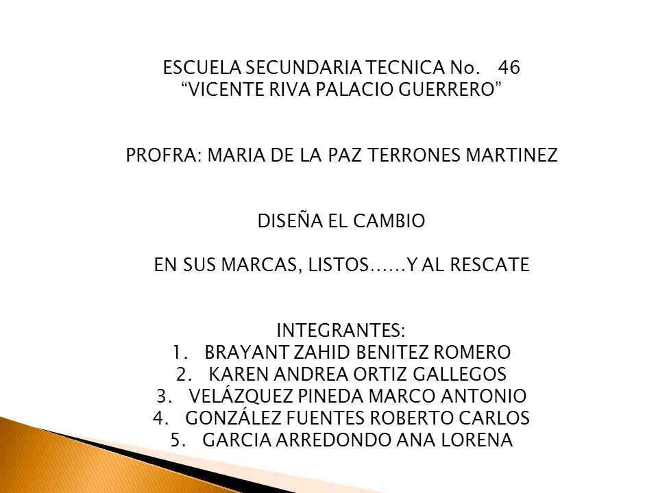 ESCUELA SECUNDARIA TECNICA No. 46 VICENTE RIVA PALACIO GUERRERO