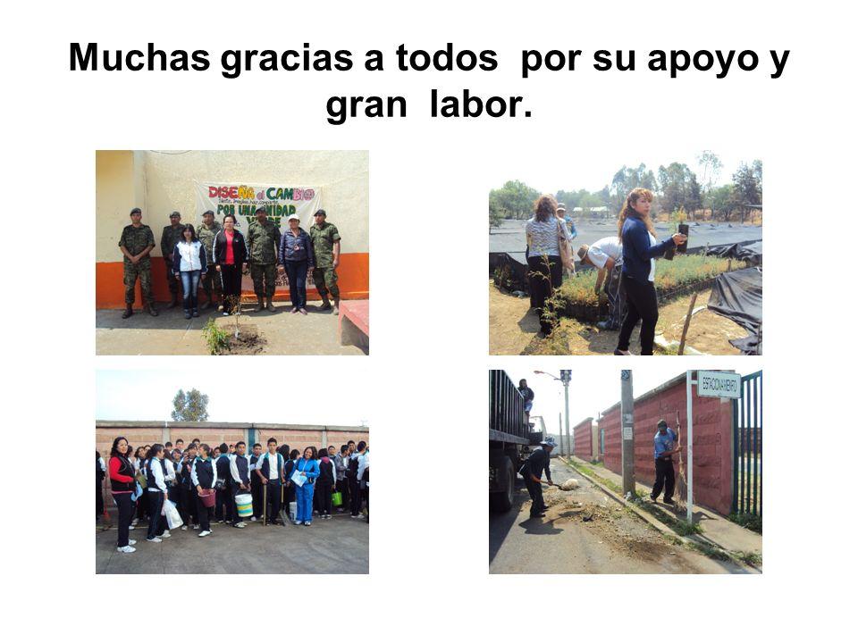 Muchas gracias a todos por su apoyo y gran labor.