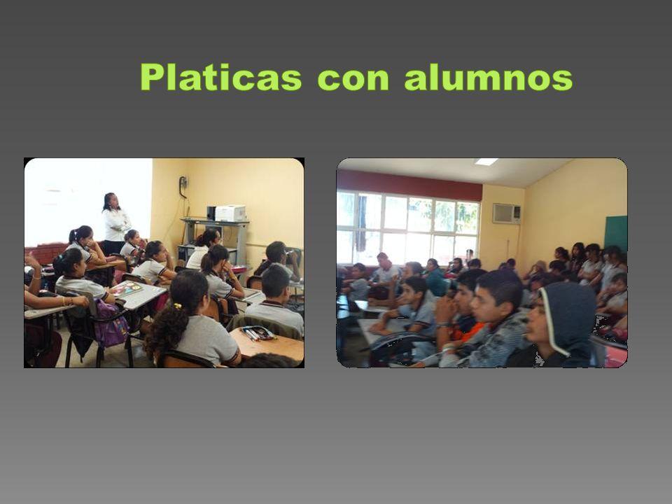 Platicas con alumnos