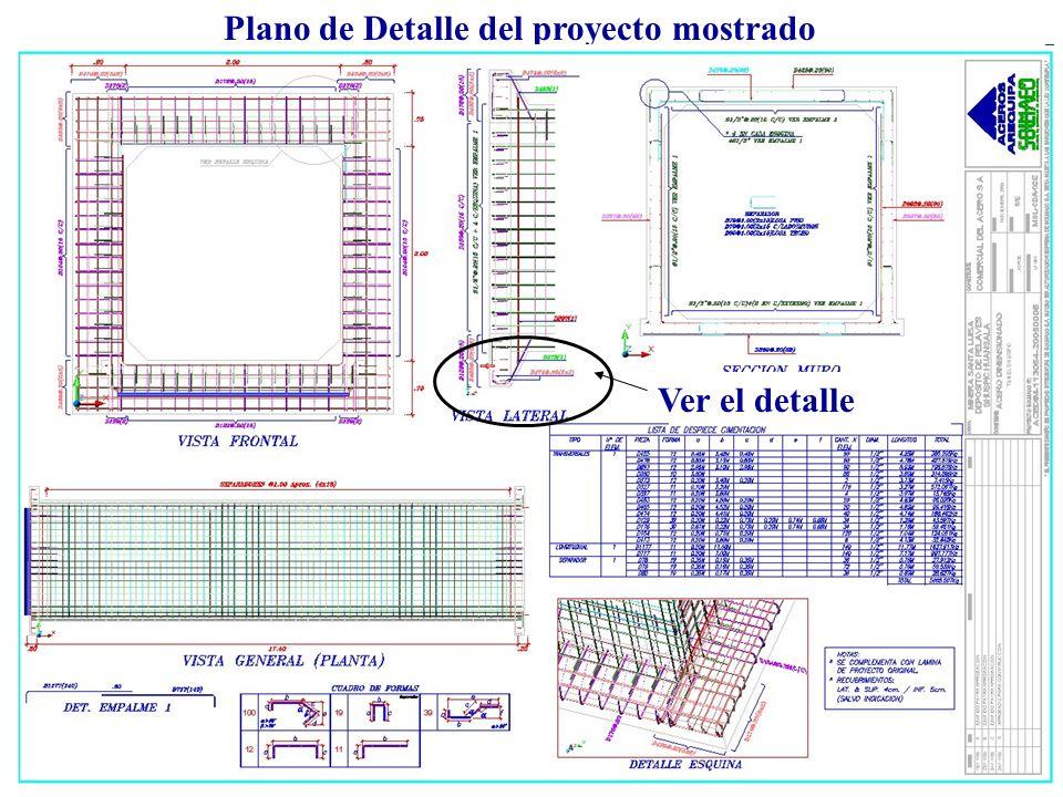 Plano de Detalle del proyecto mostrado