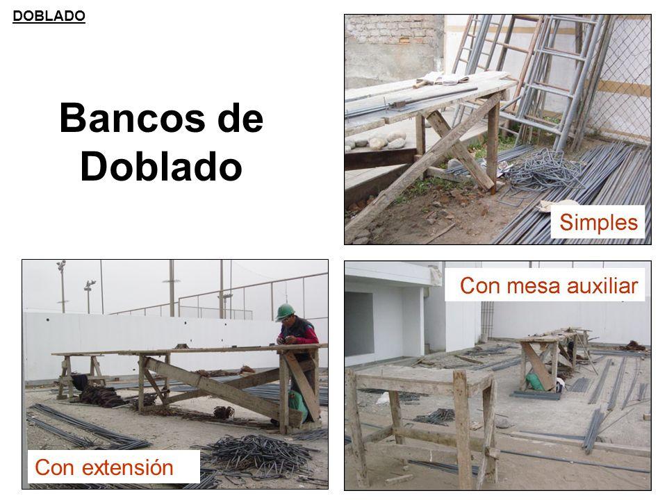 DOBLADO Bancos de Doblado Con extensión