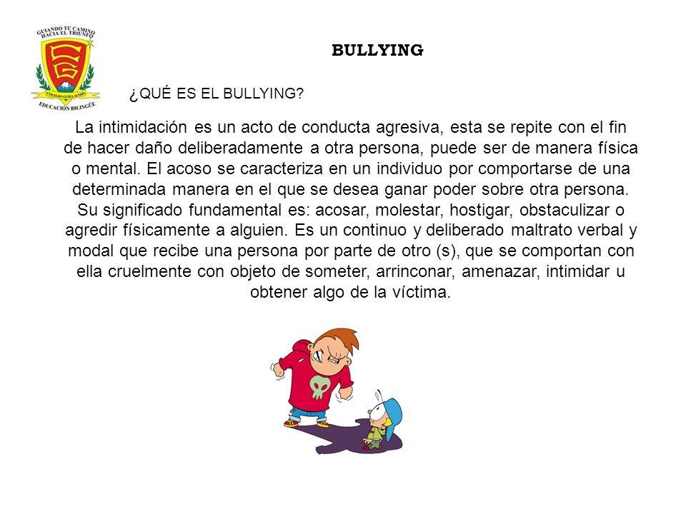 BULLYING ¿QUÉ ES EL BULLYING