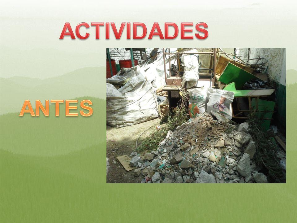 ACTIVIDADES ANTES