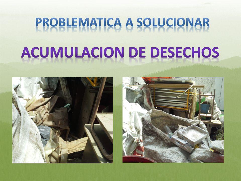 PROBLEMATICA A SOLUCIONAR ACUMULACION DE DESECHOS