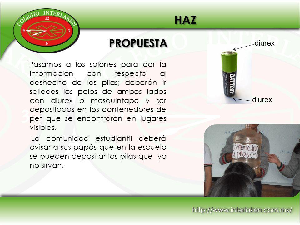 HAZ PROPUESTA. diurex.