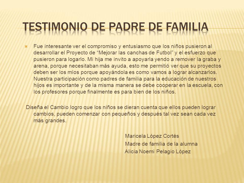 TESTIMONIO DE PADRE DE FAMILIA