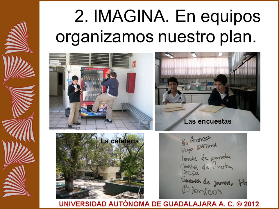 2. IMAGINA. En equipos organizamos nuestro plan.