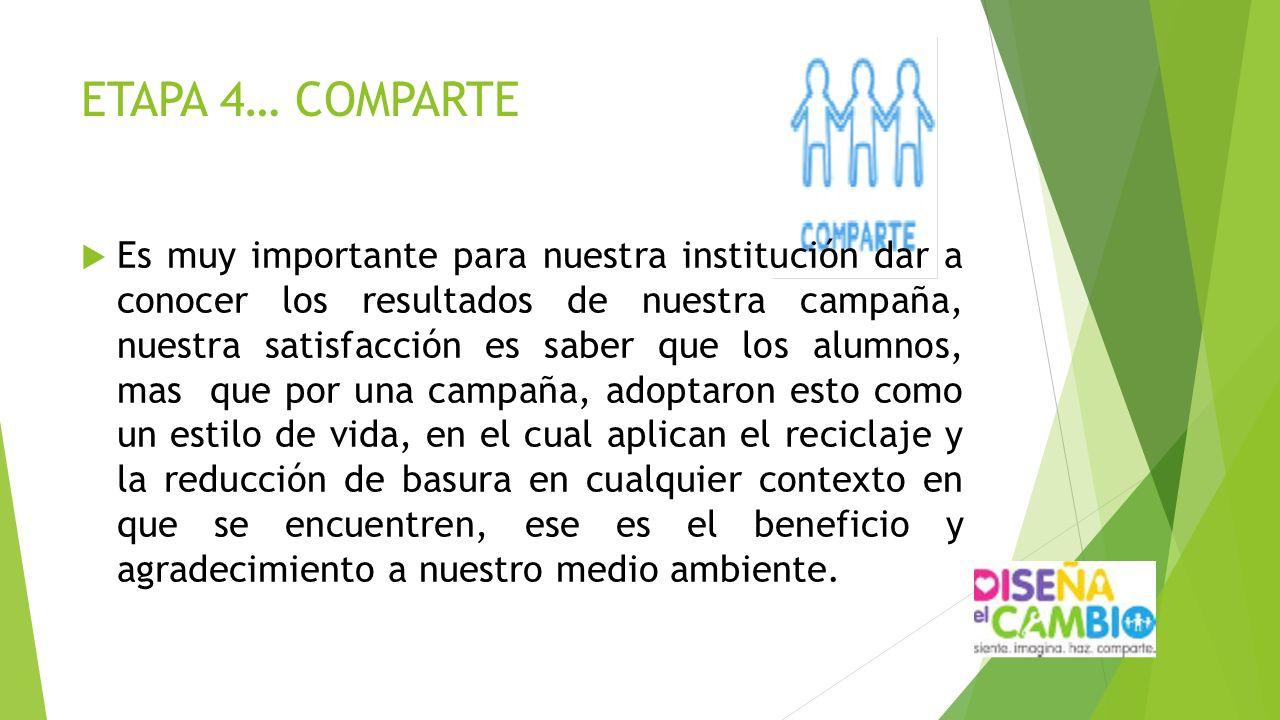 ETAPA 4… COMPARTE