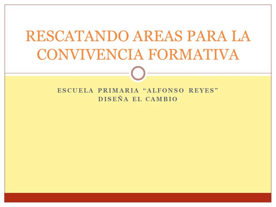 RESCATANDO AREAS PARA LA CONVIVENCIA FORMATIVA