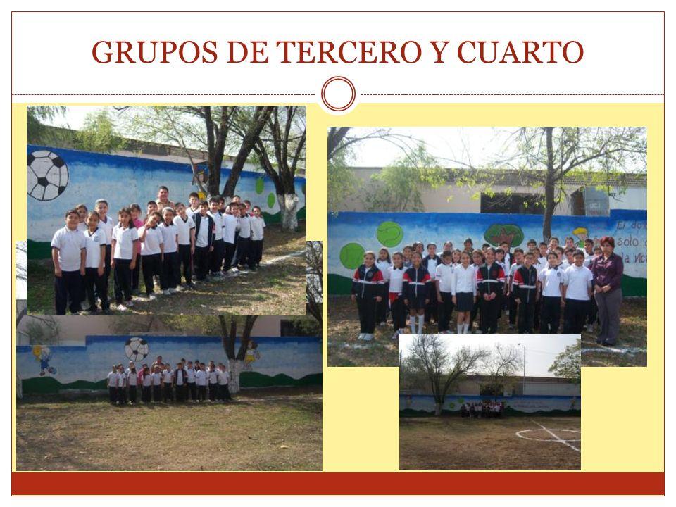 GRUPOS DE TERCERO Y CUARTO