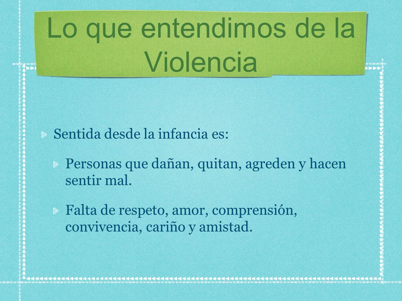 Lo que entendimos de la Violencia