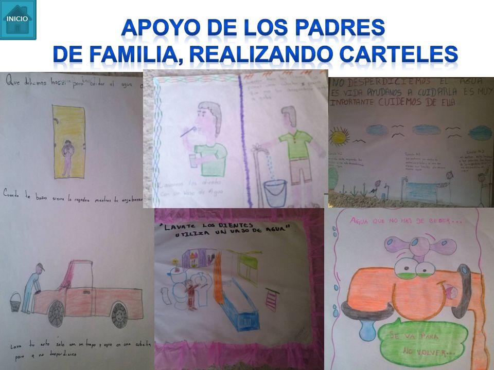 De familia, realizando carteles