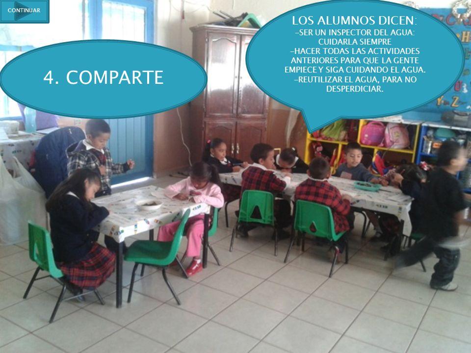 4. COMPARTE LOS ALUMNOS DICEN: