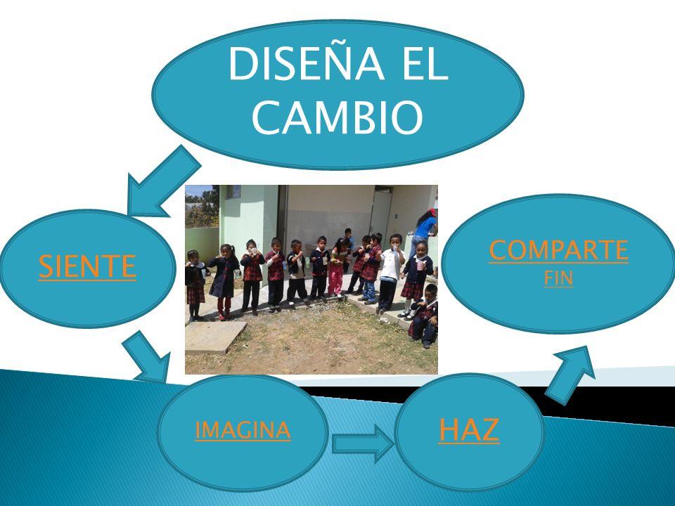 DISEÑA EL CAMBIO COMPARTE FIN SIENTE IMAGINA HAZ