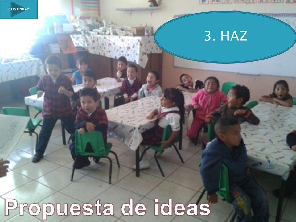 CONTINUAR 3. HAZ Propuesta de ideas